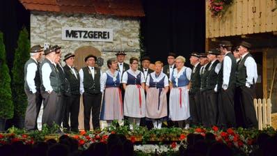 Der Jodelclub Sirnach unterhielt mit neuem und traditionellem Liedgut. (Bild: Christoph Heer)