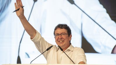 SVP-Präsident Albert Rösti beim Parteifest vom vergangenen Samstag in Sattel SZ.(Bild: Urs Flüeler, Keystone)