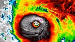 Im Auge des Hurrikan Lorenzo. (Bild: ScreenshotTwitter)