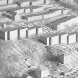 Das Areal Weinhalde in Kriens. Geplant sinddrei vier- oder fünfgeschossige Gebäude (Bildmitte). (Visualisierung: PD)