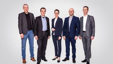 Sie alle wollen 2020 nochmals eine Legislatur anhängen (von links): Hans Peter Bienz, Daniel Gasser, Susanne Troesch-Portmann, Andreas Michel und Ruedi Mazenauer. (Bild: PD)