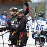 Streethockey, NLA-Playoff-Final. Im Bild: Oberwil Rebells gegen Grenchen. In der Sika Rebells Arena in Zug. (Bild: Maria Schmid, Zug, 5. Mai 2019 )Sport,