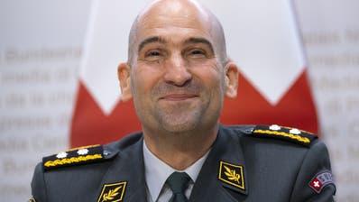 Thomas Süssliam Mittwoch an der Medienkonferenz nach der Ernennung zum neuen Armeechef. (Bild: Keystone, Peter Klaunzer)