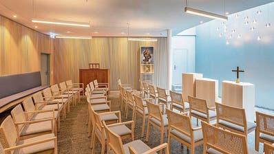 Bei der Gestaltung des Raumes der Stille wurde grosser Wert auf natürliche Ästhetik gelegt. (Bild: PD)