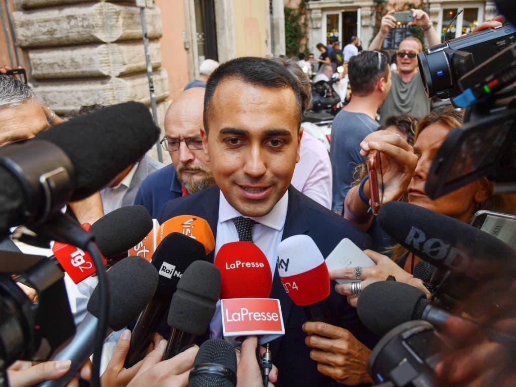 Luigi di Maio, der Chef der populistischen Fünf-Sterne-Bewegung wird neuer italienischer Aussenminister. (Bild: KEYSTONE/EPA ANSA/ALESSANDRO DI MEO)
