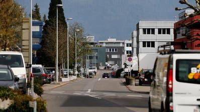 Blick auf das Hünenberger Industriegebiet Bösch. (Bild: Stefan Kaiser, Hünenberg, 2. April 2019)