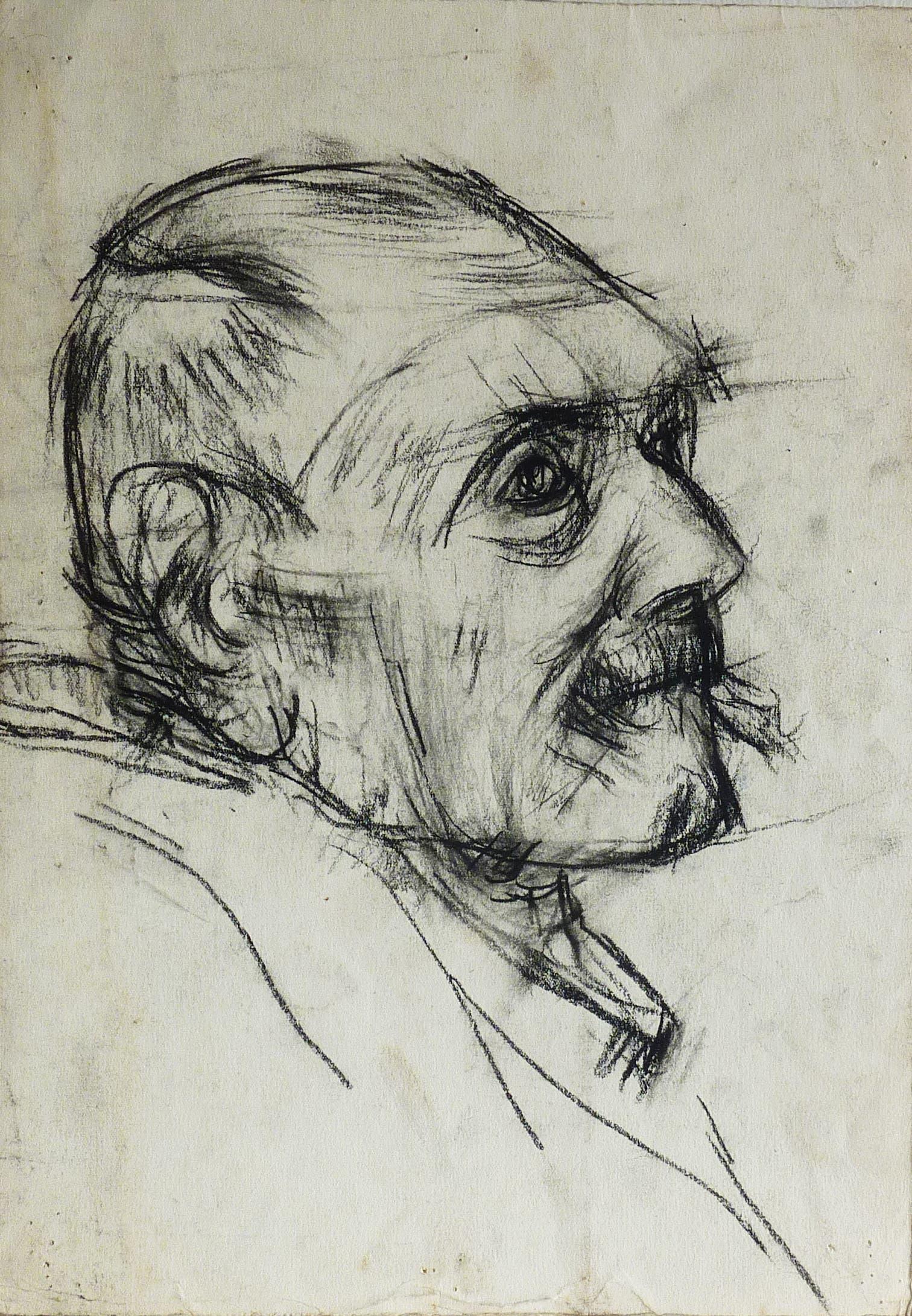 Porträt des Vaters. Kohle auf Papier. (Bilder: pd)