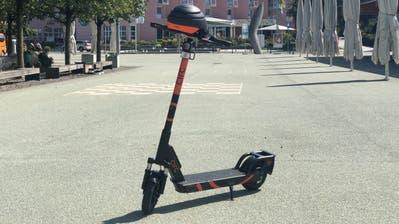Eines der E-Trottinetts, die in Rotkreuz im Einsatz sein werden. (Bild: PD)