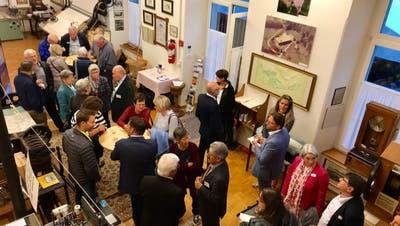 Am Freitag waren die Türen des Niederbürer Textilmuseums für geladene Gäste offen. Heute Samstag ist die Öffentlichkeit geladen. (Bilder: Andrea Häusler)
