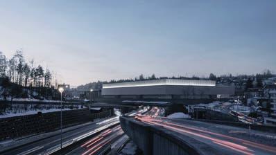 Die neue Olma-Halle über der Stadtautobahn wird rund eineinhalb Fussballfelder gross. (Bild: PD)