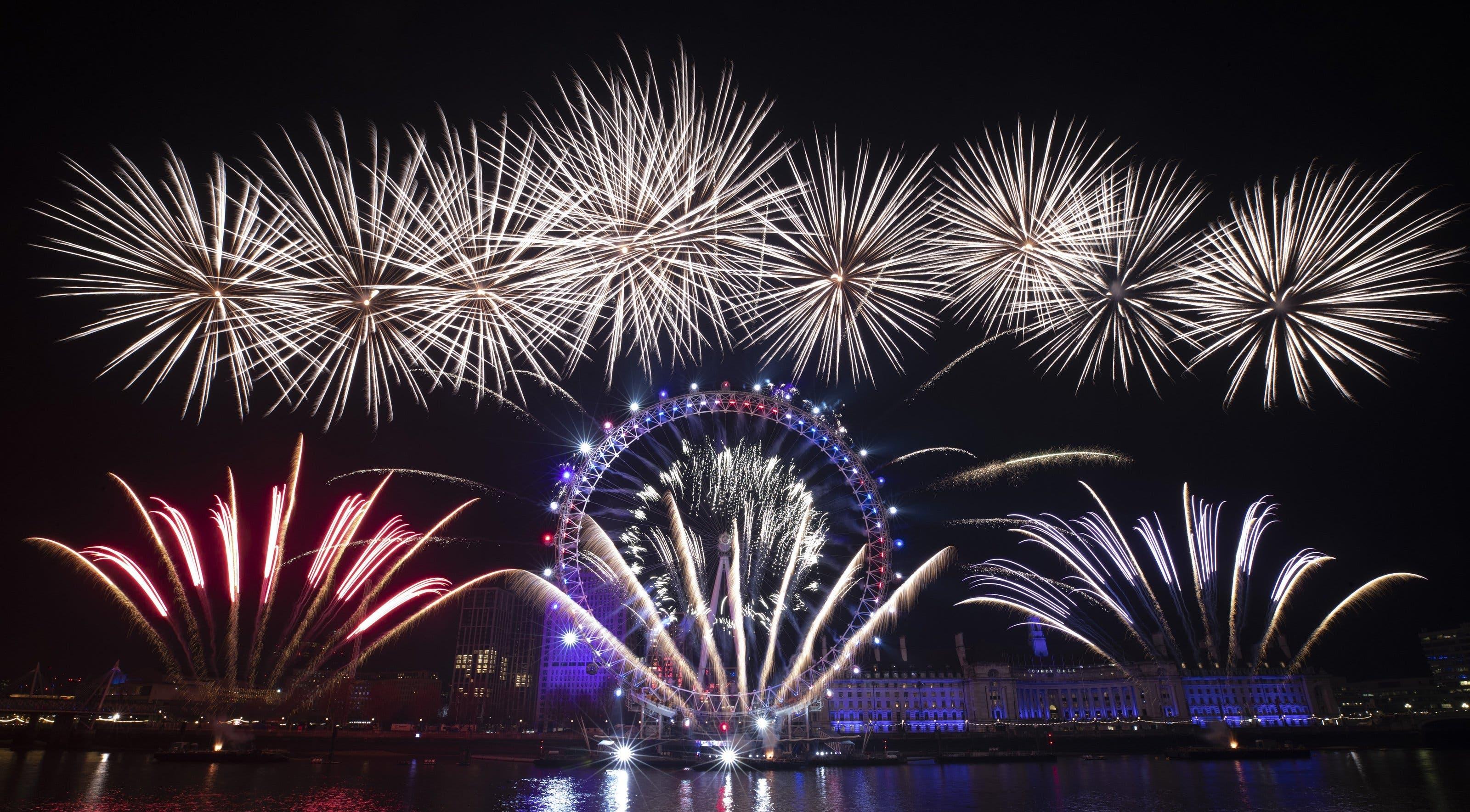 Feuerwerk über London.