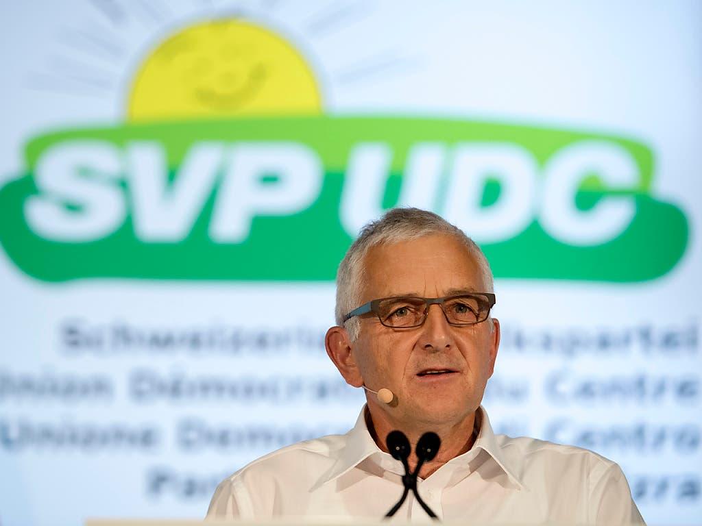 Der ehemalige SVP-Fraktionschef und Nationalrat Caspar Baader präsidiert die Findungskommission, die einen Nachfolger oder eine Nachfolgerin für Parteipräsident Albert Rösti ausfindig machen soll.