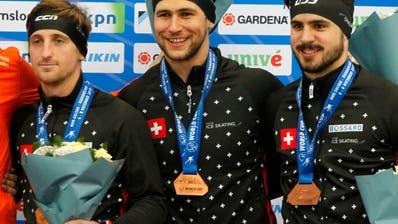 EM-Bronze für Schweizer Eisschnelllauf-Team