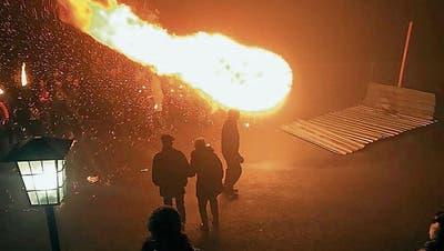Sevelen: Das Element Feuer wurde auf dem Gedankenberg zelebriert