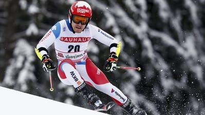 Am Samstag, 11. Januar, startet Cédric Noger am Weltcup-Riesenslalom in Adelboden. Am Abend zuvor wurde er zum Wiler Sportler des vergangenen Jahres ausgezeichnet. Sein Vater Luc Kauf nahm den Preis an der Nacht des Wiler Sports entgegen. (Gabriele Facciotti, AP)