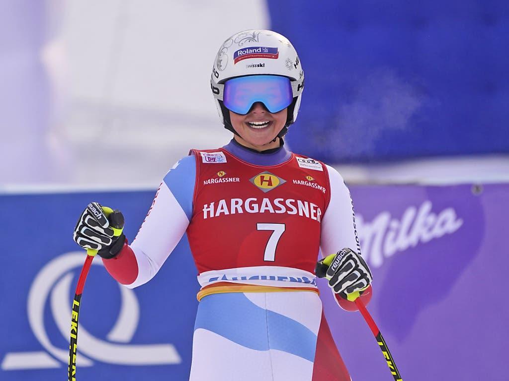 Corinne Suter gewinnt erstmals ein Weltcup-Rennen