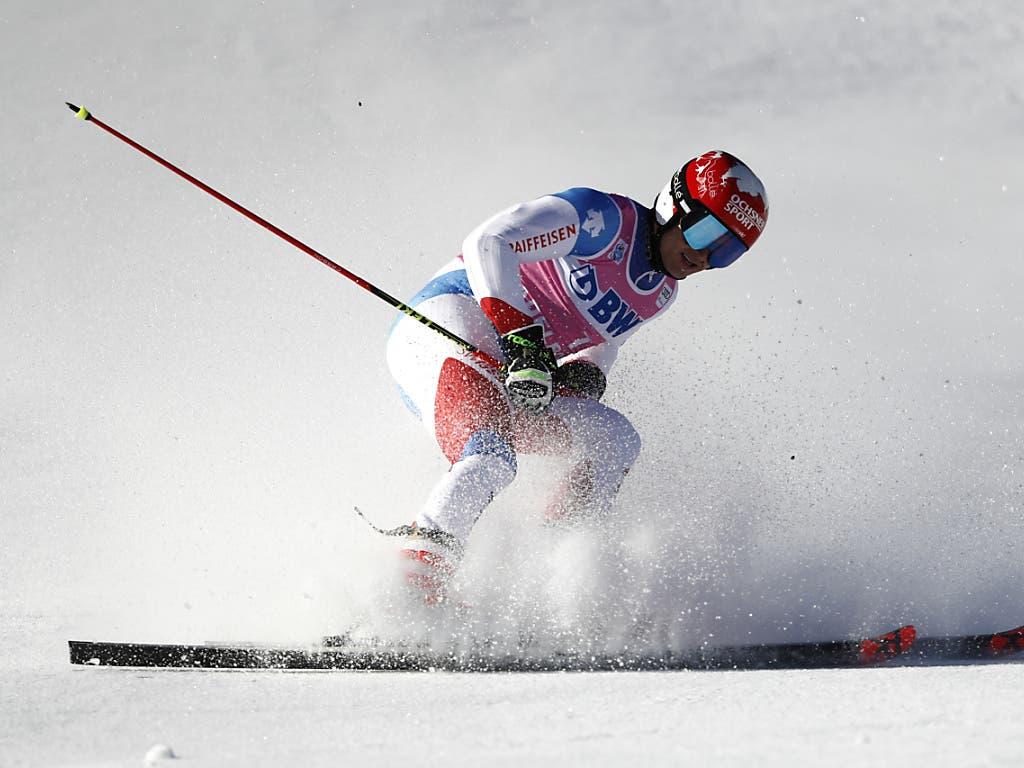 Loïc Meillard konnte im zweiten Lauf nicht mehr mit den Besten mithalten
