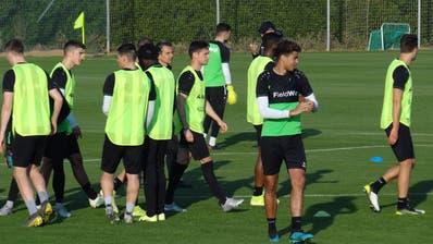Der FC St.Gallen weilt im Trainingslager in La Manga und trifft am Montagnachmittag auf Ostende aus der höchsten belgischen Liga.(Bild: Christian Brägger)