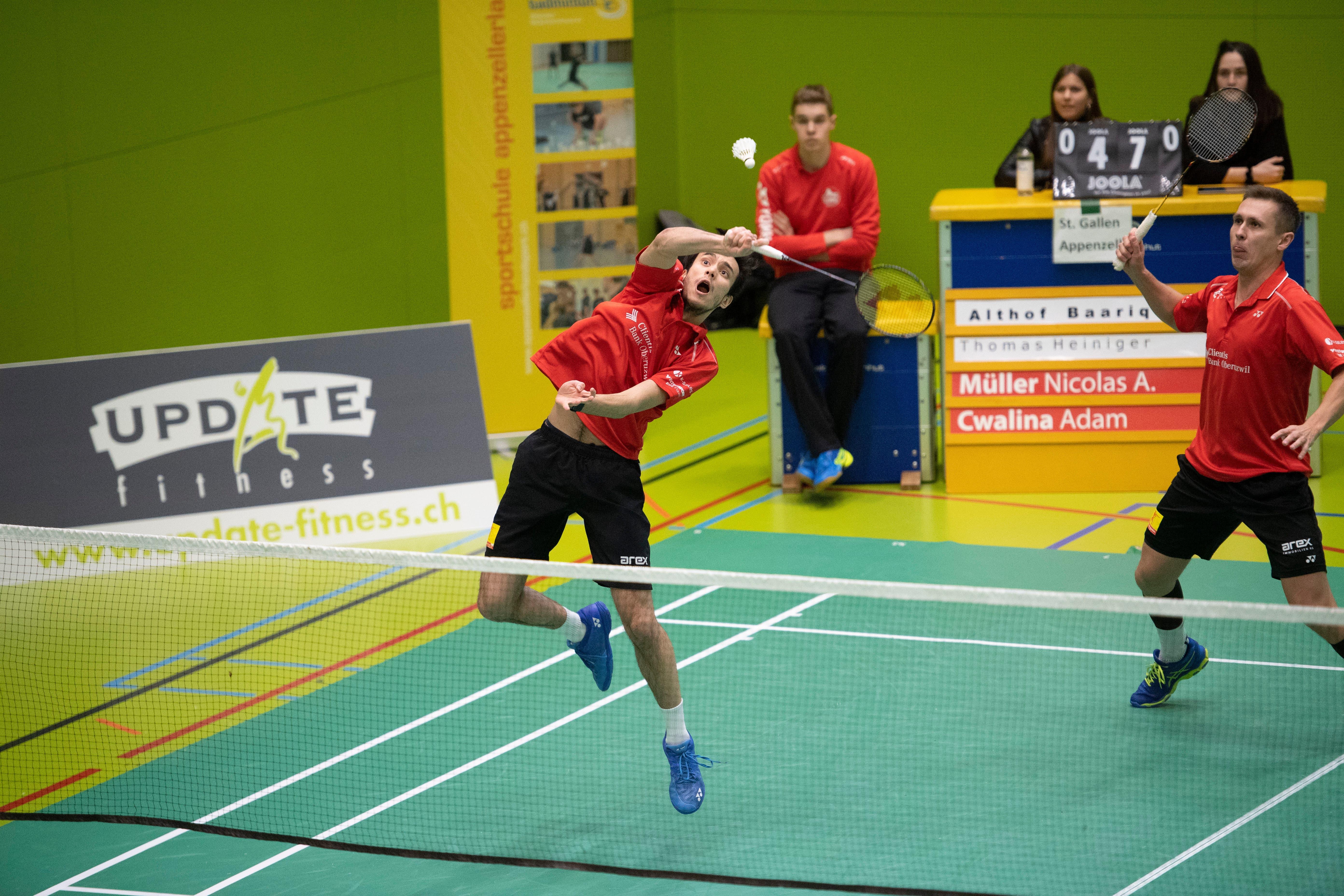 Gleiches gilt für Nicolas A. Müller, hier im Doppel mit dem Polen Adam Cwalina gegen St. Gallen-Appenzell.
