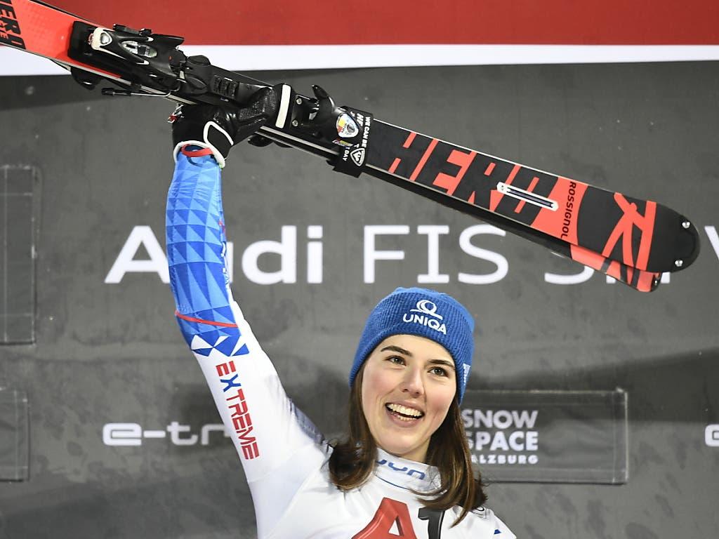 Petra Vlhova bejubelt ihren zweiten Sieg in Folge im Slalom