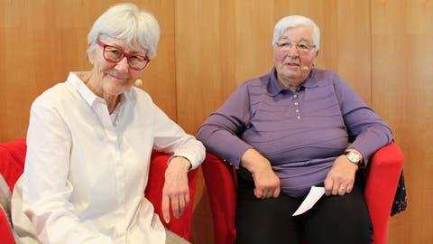 Hanni Knüsel interviewt Ida Meister. ((Bild: Manuela Olgiati))