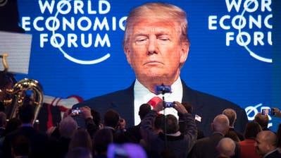 Vor zwei Jahren war er da: US-Präsident Trump bei seinem Auftritt in Davos am 26. Januar 2018. (Gian Ehrenzeller, KEYSTONE)