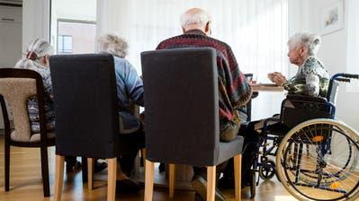 Mittagessen in einer Senioren WG in Egerkingen am Dienstag, 2. April 2019. (Philipp Schmidli, PHILIPP SCHMIDLI | Fotografie)