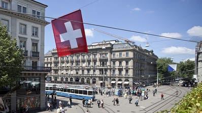 Das historische Bankgebäude der Credit Suisse am Zürcher Paradeplatz. (Keystone)