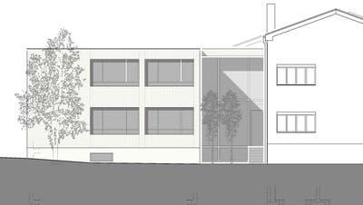 Visualisierung des Anbaus am Schulhaus Mattwil. ((Bild: VSG Berg-Birwinken))