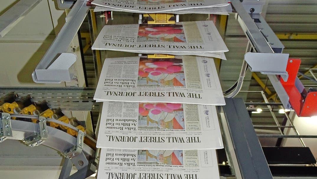 «Es ist ein schöner Auftrag»: Während des WEF wird eine Teilauflage des Wall Street Journals im Werdenberg gedruckt