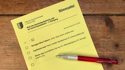 Diese Woche landeten die Abstimmungsunterlagen in den Sennwalder Briefkästen. (Corinne Hanselmann)