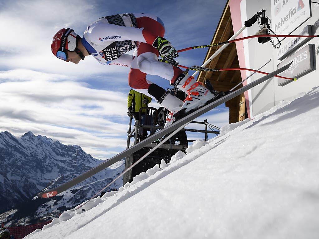 Loïc Meillard wahrt seine Chancen in der schwächeren Disziplin