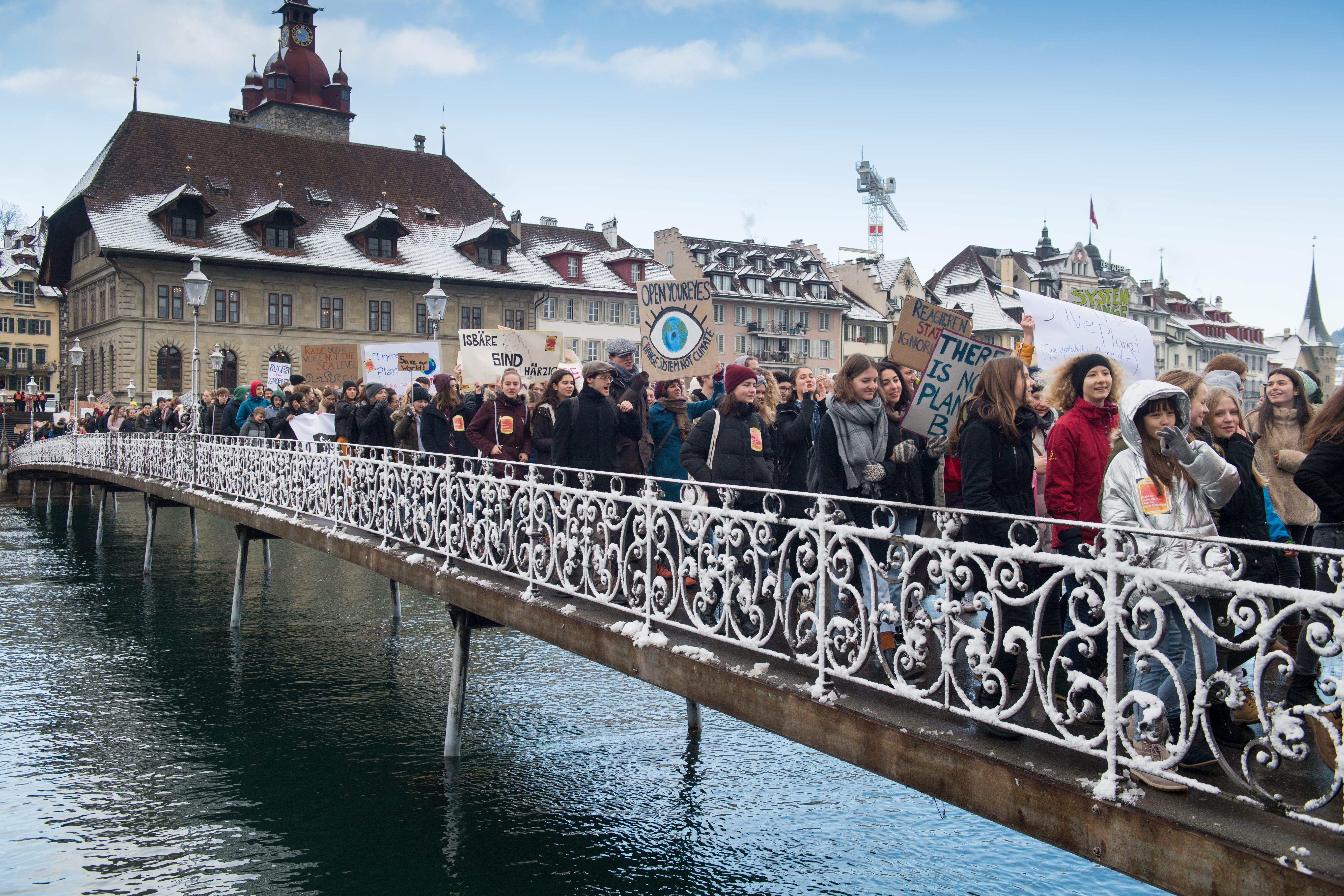 18. Januar 2019: Die Klimabewegung fasst Fuss in Luzern.