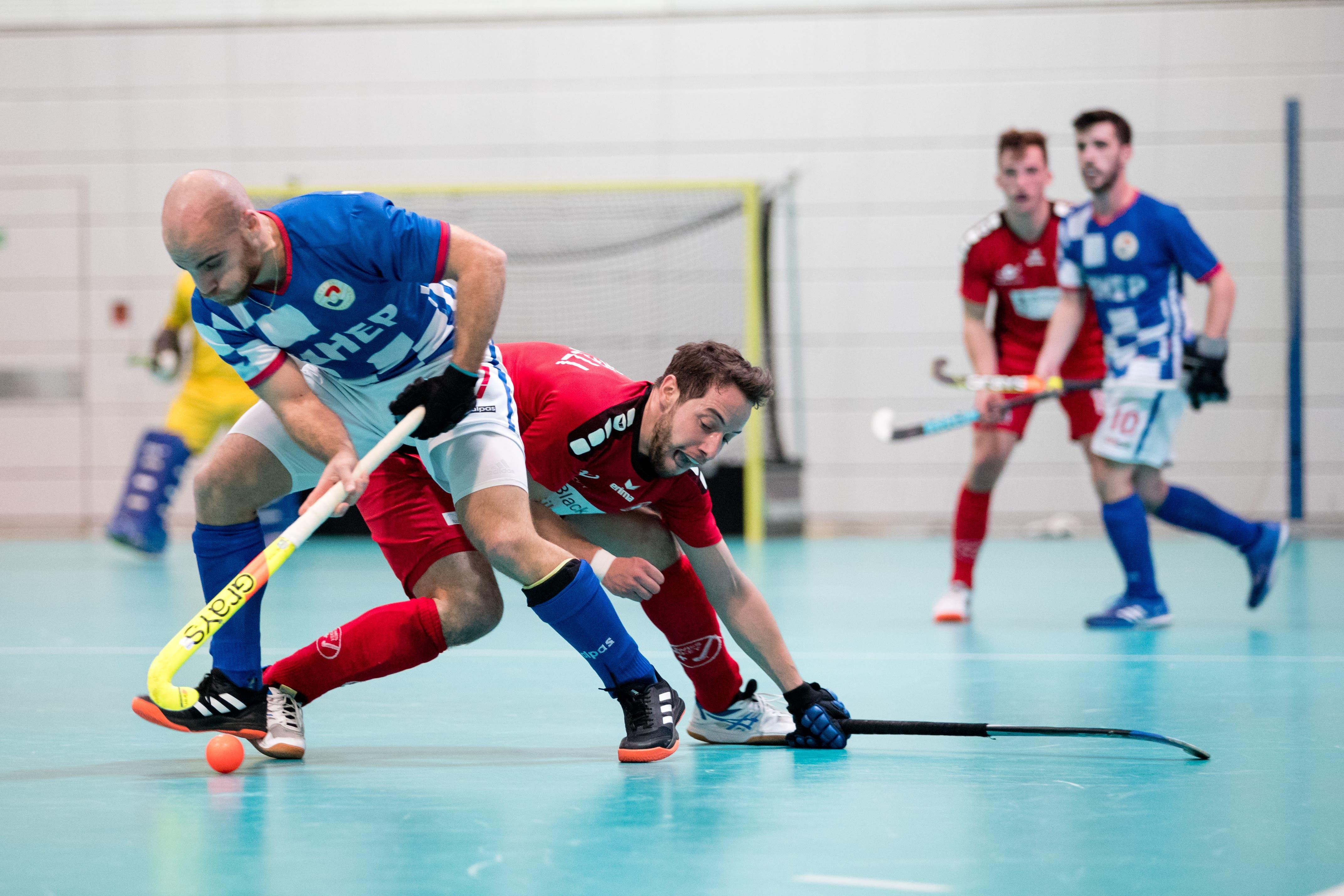 Der Schweizer Fabio Marelli (rechts) gegen Kroatiens Anze Fujs.