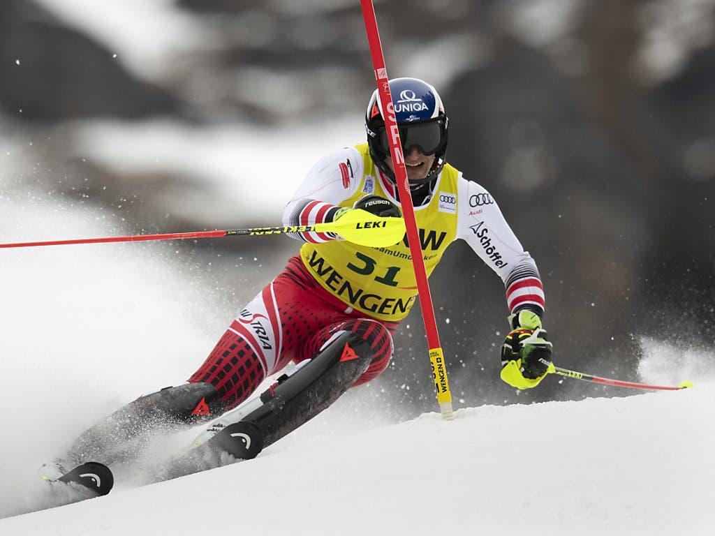 Matthias Mayer verblüfft mit einer ausgezeichneten Fahrt im Slalom