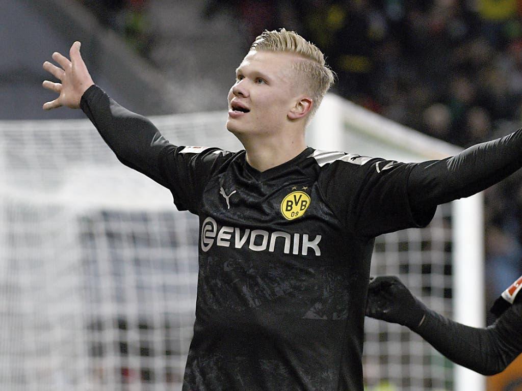 Grosse Show von Erling Haaland in Augsburg: Der Debütant schiesst Dortmund mit drei Toren zum Sieg