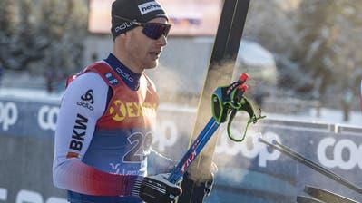 Dario Cologna hat seine gute Form in der Tour de Ski bisher noch nicht wie gewünscht in Resultate ummünzen können. (Bild: Urs Flüeler/Keystone; Lenzerheide, 29. Dezember 2019) (Urs Flueeler, KEYSTONE)