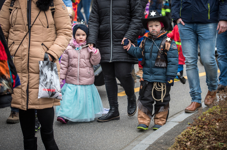 Diessenhofen TG - Kinderfasnachtsumzug 2020 in Diessenhofen.