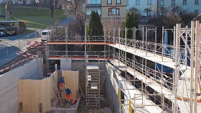 Der Bau des Roth-Haus in Muri schreitet voran