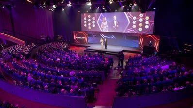 Statt der Fussballer selbst stand bei der glamourösen SFL Award Night die Modusdiskussion im Zentrum. (Claudio De Capitani, freshfocus)