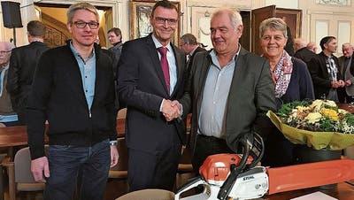 Bürgergemeinde Frauenfeld ehrt Förster Robert Zahnd für sein 40-jähriges Engagement