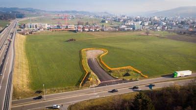 100'000 Quadratmeter oder rund zehn Fussballfelder gross ist das Bauland auf der Sommerau. (Bild: Ralph Ribi (21. Januar 2020))