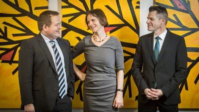 Fühlen sich privilegiert im Job: Jürg Roth, Ruth Faller und Thomas Pleuler. ((Bild: Reto Martin))