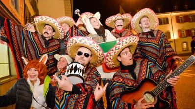 Mexikaner-Gruppe an der Bechtelisnacht: Bedienen zwar Klischees, aber nicht respektlos, sondern mit Humor. (Donato Caspari)