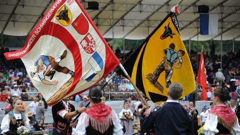 Eitel Wonne im vergangenen Juli: Der Festakt des Innerschweizer Verbandsfest in Flüelen 2019. (Bild: Urs Hanhart, Flüelen, 7. Juli 2019)