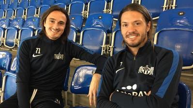 Die früheren FCL-Spieler Hekuran Kryeziu (links) und Adrian Winter sind fit zurück beim FC Zürich. (Bild: Daniel Wyrsch (Zürich, 22. Januar 2020))