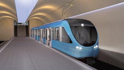 So könnte die Metro Luzern zwischen Schwanenplatz-Kantonsspital-Ibach aussehen. (Visualisierung: PD)