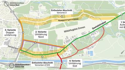 Anwohner fordern: Südumfahrung Emmen Dorf soll doch geprüft werden