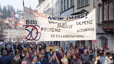 Kundgebung gegen 5G in St.Gallen