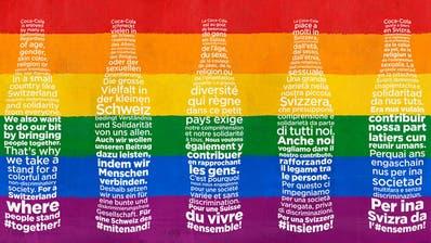 Landesweite Kampagne: Coca-Cola setzt sich für eine bunte Gesellschaft ein. (PD)